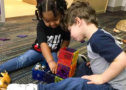 Working together Magnatiles_educators