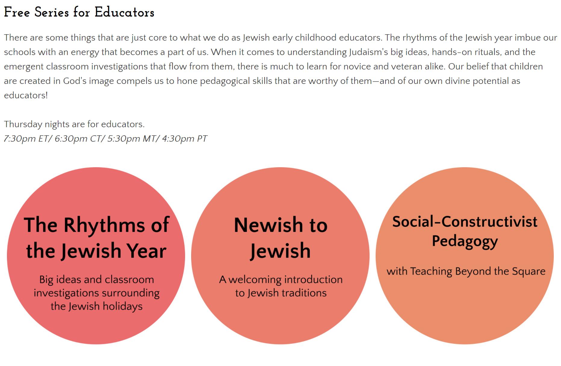 free series for educators